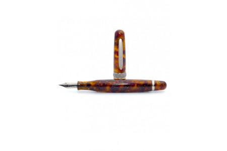 Stipula Etruria Magnifica miele selvatico rhodium trim steel nib fountain pen