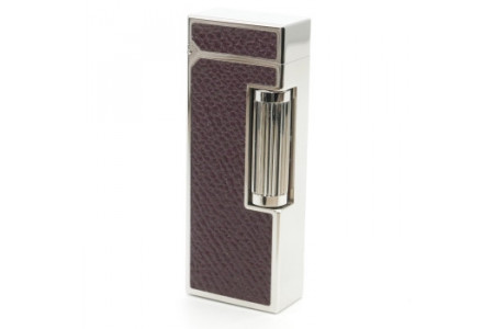 Dunhill White Spot Rollagas Bourdon pelle bordeaux