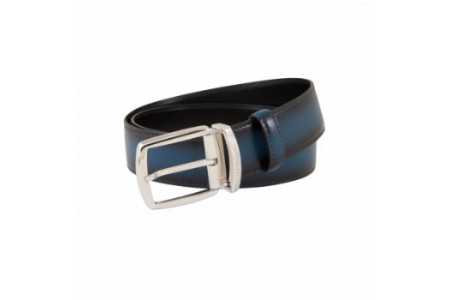 Dupont Belts line D smooth blue leather with shades 35mm