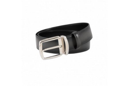 Dupont Belts line D smooth black leather with shades 35mm