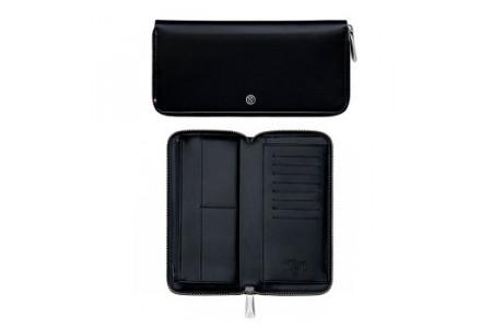 Dupont Billfolds line D zippered wallet black