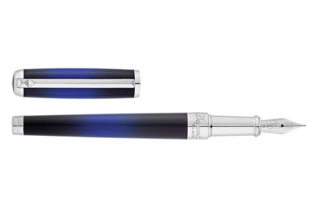 Dupont New Line D Medium Atelier blue Sun Burst fountain pen 410714