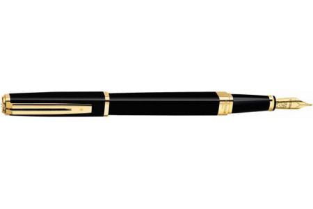 Waterman Exception slim black lacquer gt fountain pen