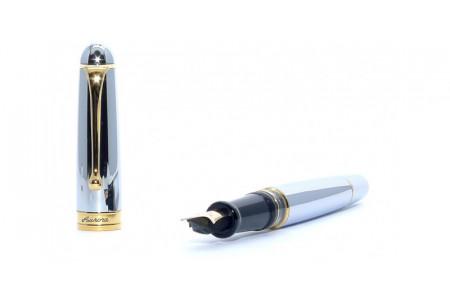 Aurora 88th Anniversary rhodium fountain pen