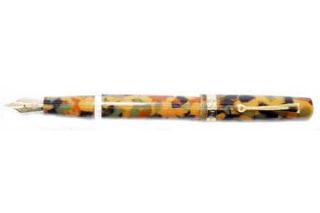 Armando Simoni Club Studio arlecchino gold trim fountain pen
