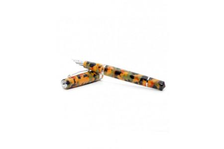 Armando Simoni Club Studio arlecchino rhodium trim fountain pen