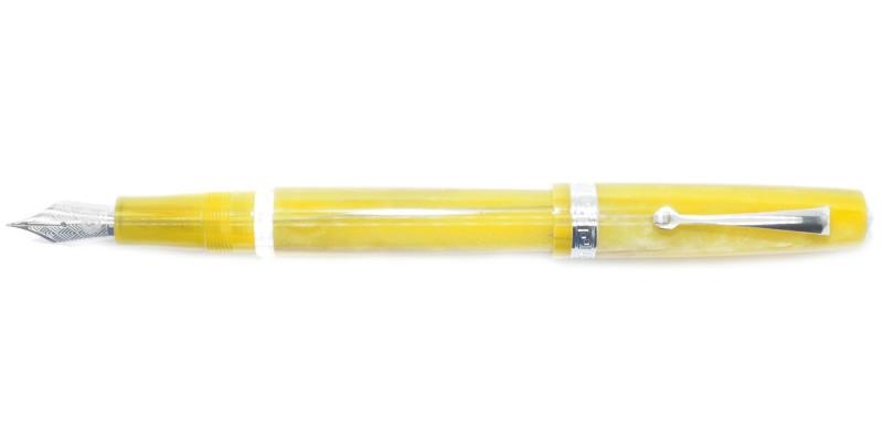 Armando Simoni Club Studio yellow pinnacle rhodium trim fountain pen