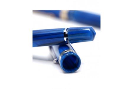 Armando Simoni Club Studio blue pinnacle rhodium trim fountain pen