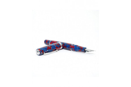 Armando Simoni Club Studio blue coral rhodium trim fountain pen