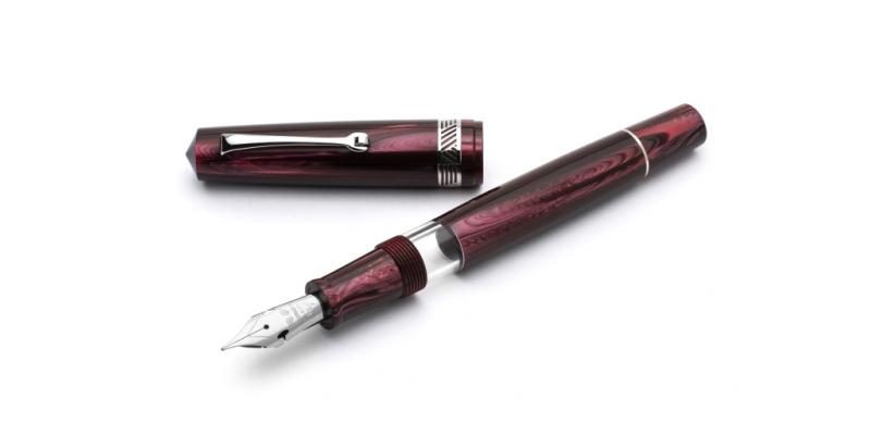 Leonardo Officina Italiana Wild World Celluloid Momento Zero finestra Panjin rhodium trim elastic nib fountain pen