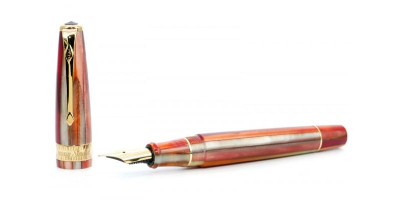 Conway Stewart Model 100 blood orange spaghetti fountain pen