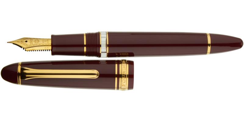 Sailor 1911 REALO gold trim maroon fountain pen