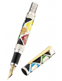 Montegrappa Harry Potter Hogwarts silver trim fountain pen
