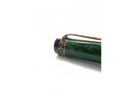 Aurora Internazionale green solid gold trim fountain pen