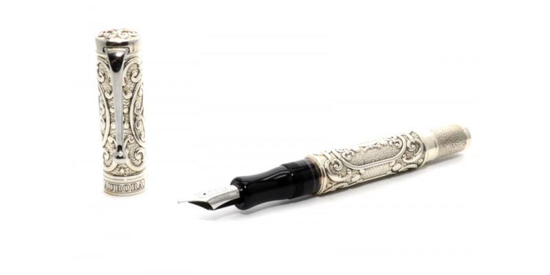 Aurora B. Cellini silver fountain pen