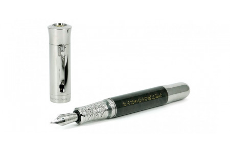 Graf von Faber-Castell Pen of the year 2019 Samurai platinum plated fountain pen