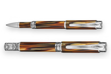 Montegrappa Ernest Hemingway The Writer finiture argento roller