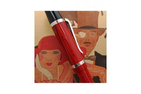 Montegrappa Nazionale Flex cinnamon fountain pen extrafine nib