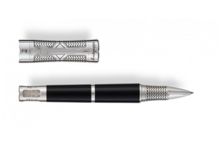 Montegrappa Time and Brain finiture argento roller