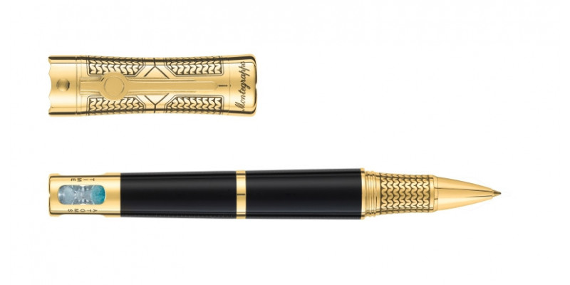 Montegrappa Time and Brain finiture oro 18kt. roller