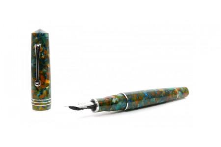 Leonardo Officina Italiana Momento Zero Grande Girasole finiture rodio pennino acciaio stilografica