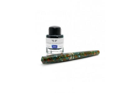 Leonardo Officina Italiana Momento Zero Grande Sunflower rhodium trim steel nib fountain pen